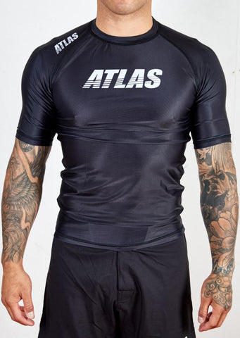 ATLAS - SPLITTER RASH GUARD - BLACK