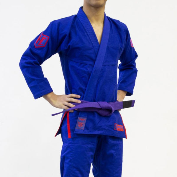 Hooks Jiujitsu Gi - Pro Light Kids Blue with Belt