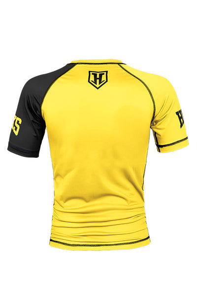 Hooks - Yellow Ranked Rashguard - Short Sleeve