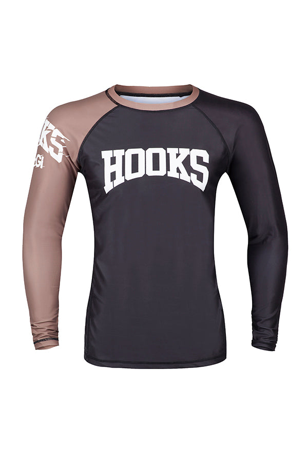 Hooks- Female Rashguard - Brown