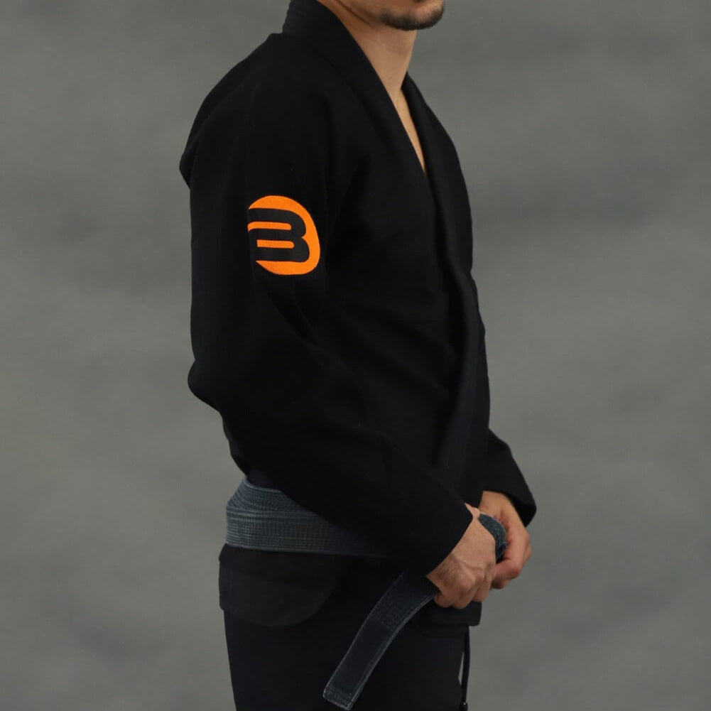 Braus Orange Element Jiu Jitsu Gi - Black