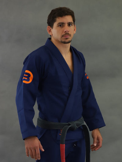 Braus Orange Element Jiu Jitsu Gi - Navy