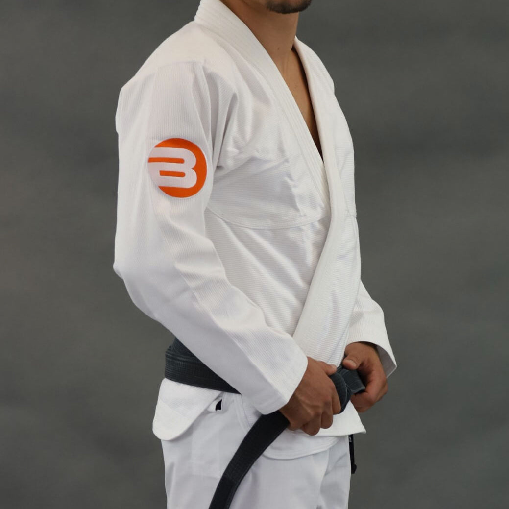 Braus Orange Element Jiu Jitsu Gi - White