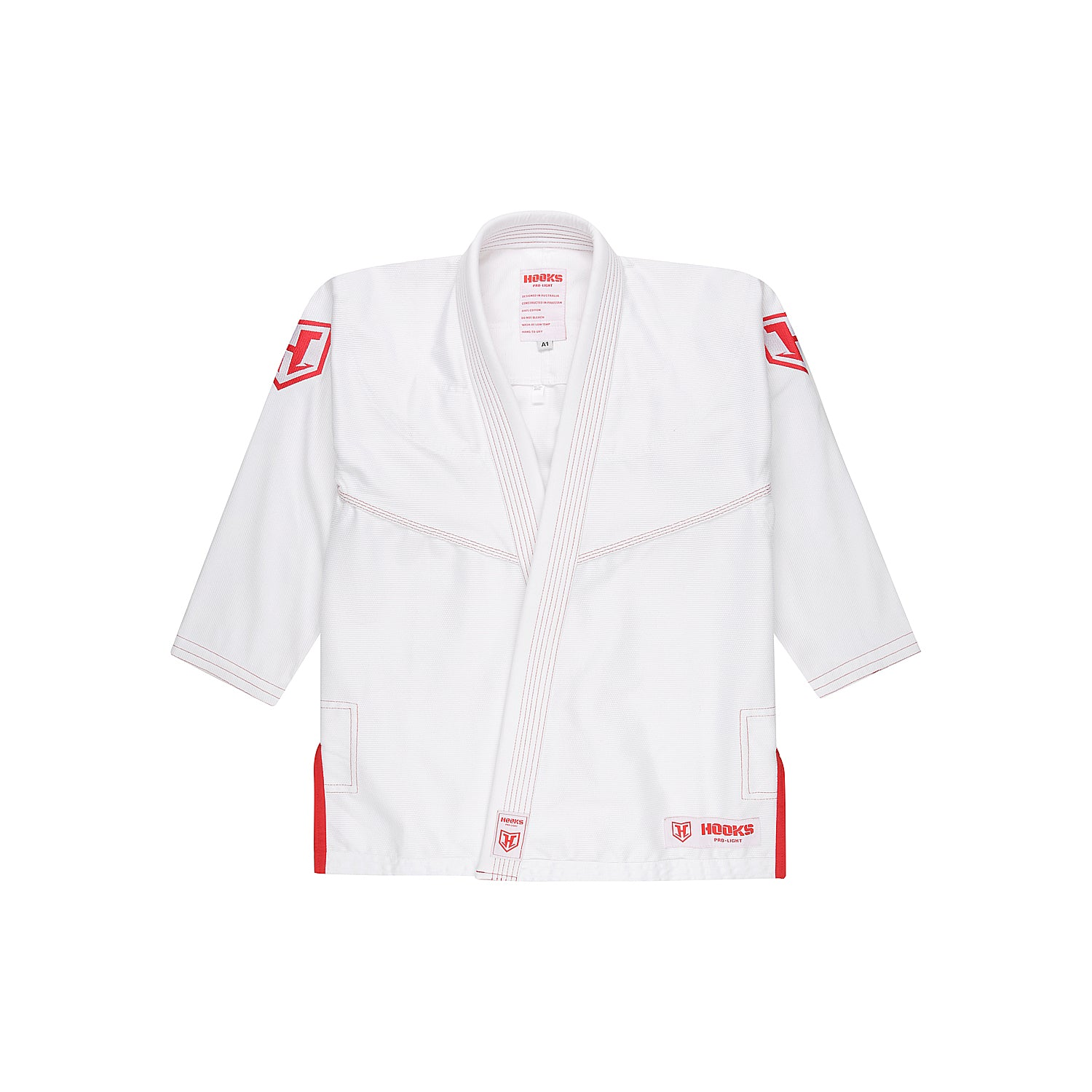 Hooks Pro Light Jiu Jitsu Gi -  Limited Edition White/Red