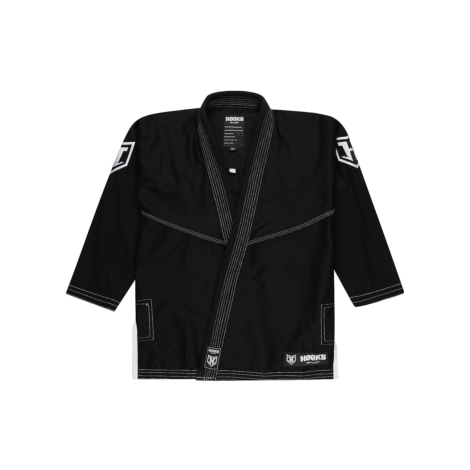 Hooks Pro Light Jiu Jitsu Gi -  Black/White
