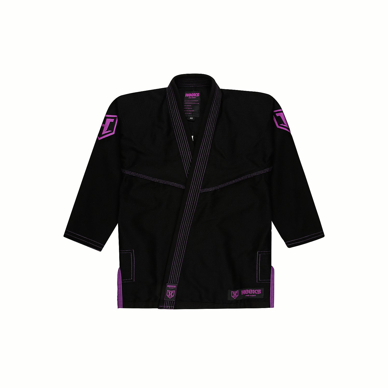 Hooks Pro Light Jiu Jitsu Gi -  Limited Edition Black/Purple