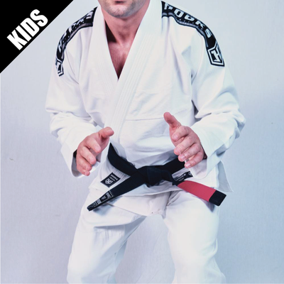 Kids Hooks Origin BJJ Gi - White with White Belt