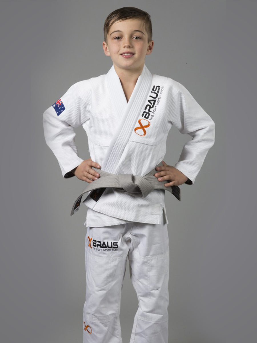 Braus Prolight Kids Jiu Jitsu Gi - White