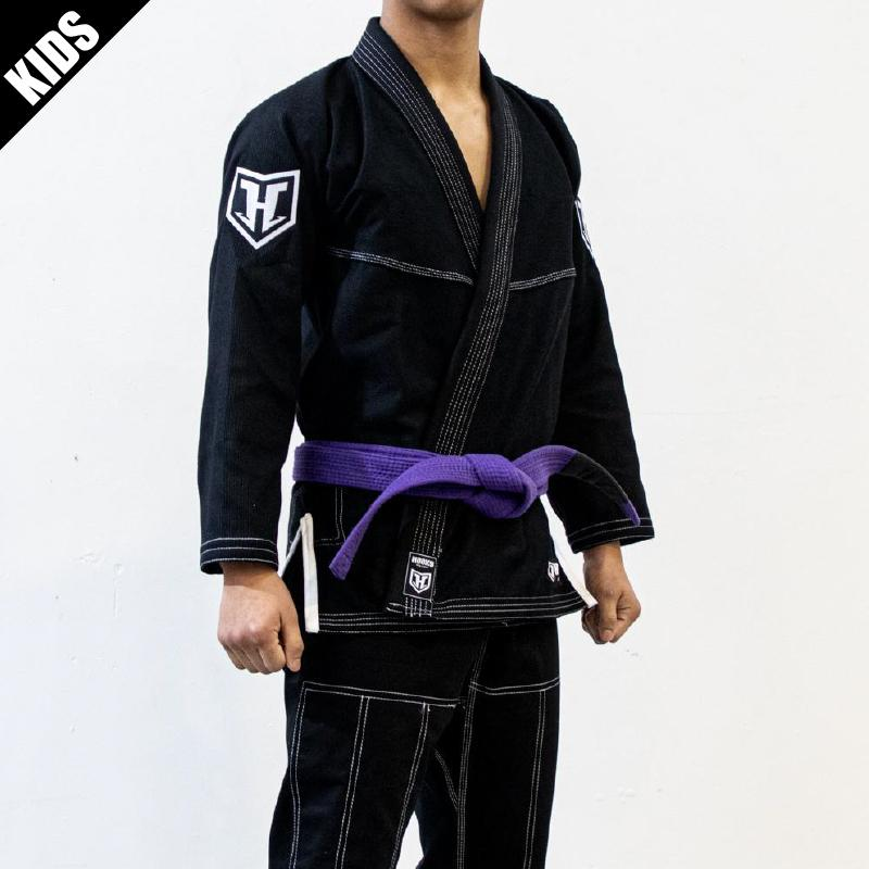 Hooks Kids Pro Light Jiu Jitsu Gi with Belt -  Black