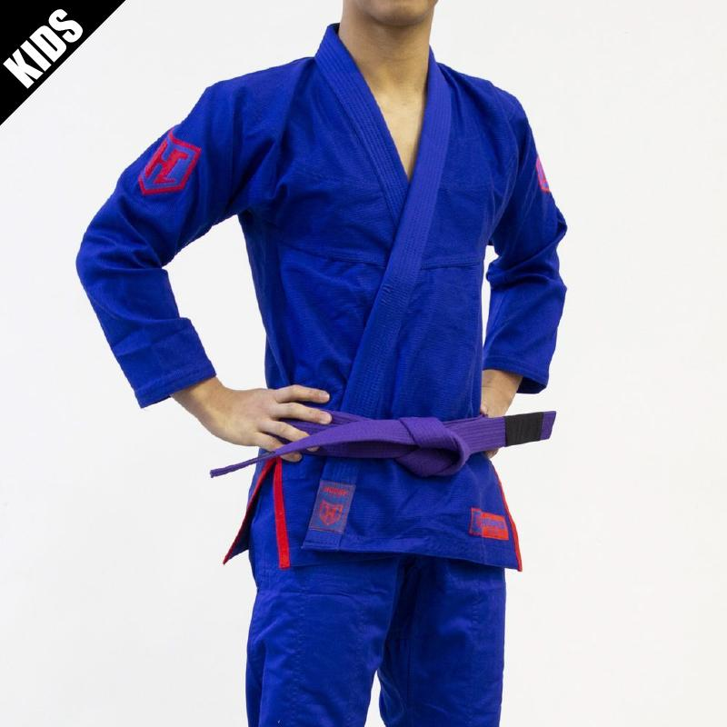 Hooks Kids Pro Light Jiu Jitsu Gi with Belt -  Blue