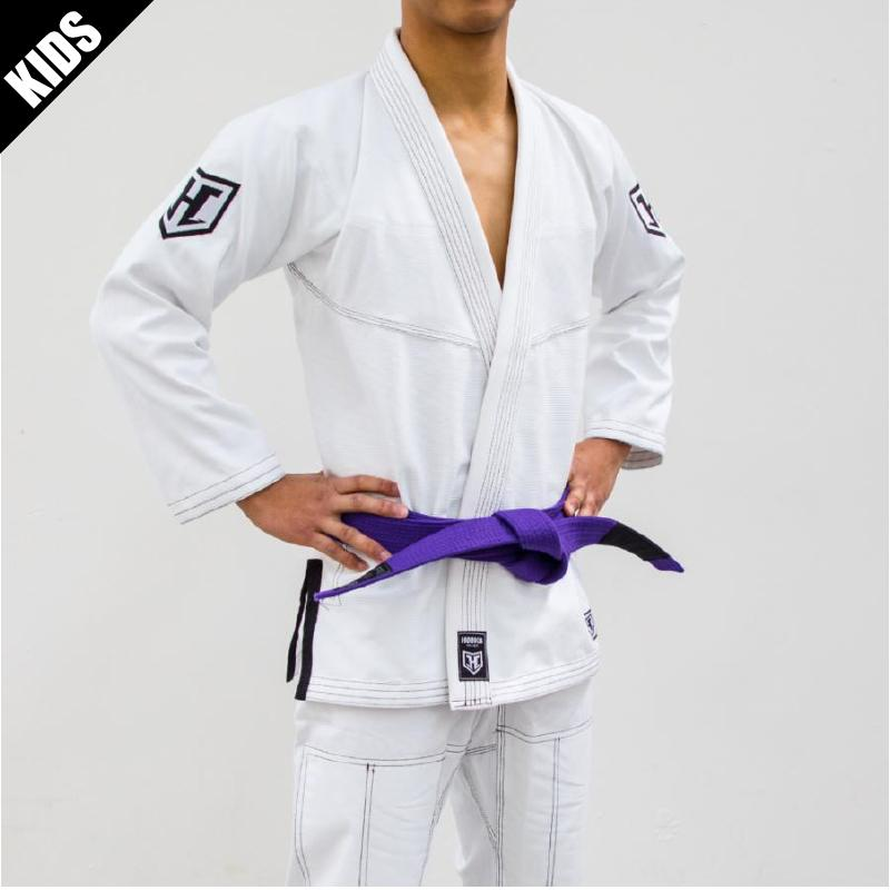 Hooks Kids Pro Light Jiu Jitsu Gi with Belt - White