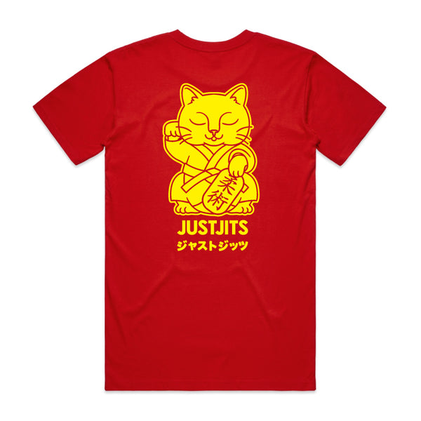 Just Jits Red Lucky Cat Tee