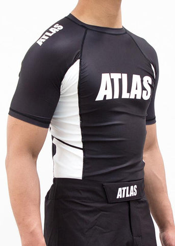 ATLAS - EVO RASH GUARD - BLK/WHITE