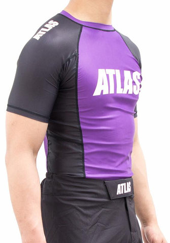 ATLAS - EVO RASH GUARD - PURPLE/BLK