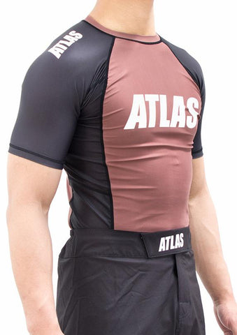 ATLAS - EVO RASH GUARD - BROWN/BLK
