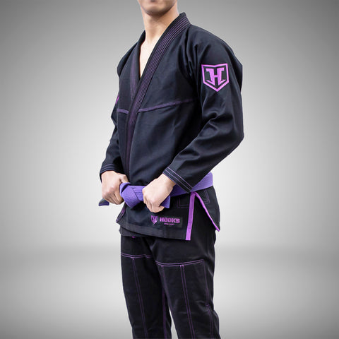 Hooks Jiujitsu Gi - Pro Light Black/Purple