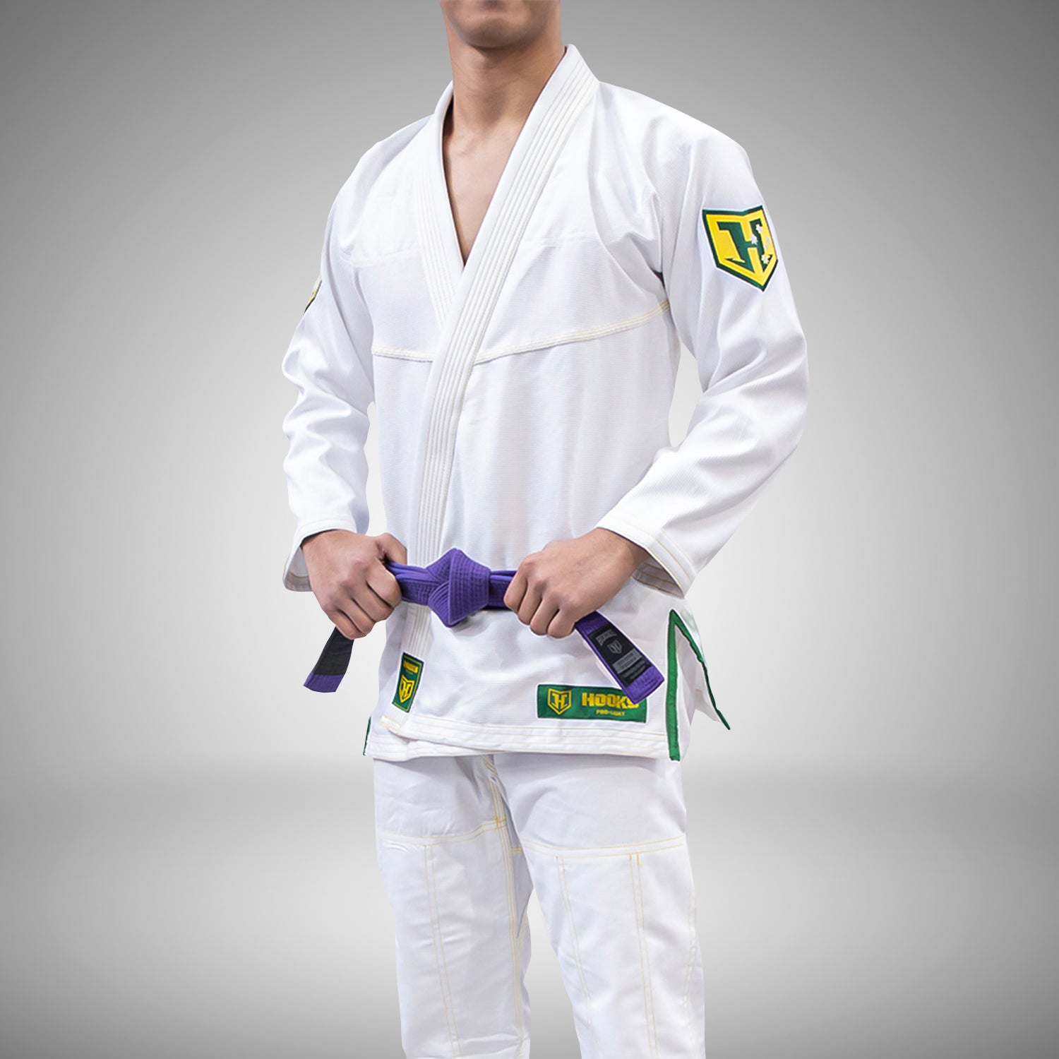 Hooks Pro Light Jiu Jitsu Gi -  Limited Edition Green & Gold
