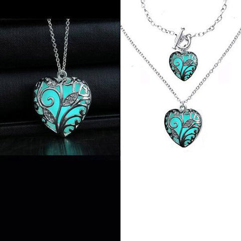 """Glow In The Heart"" Steampunk Necklace- BUY ONE, GET ONE FREE!"