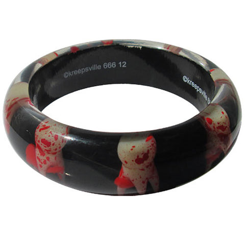 Kreepsville 666 Breaking Teeth Bangle Blody Gore Horror Halloween