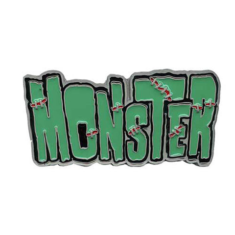 Kreepsville 666 Monster Belt Buckle Frankenstein Green Horror Halloween