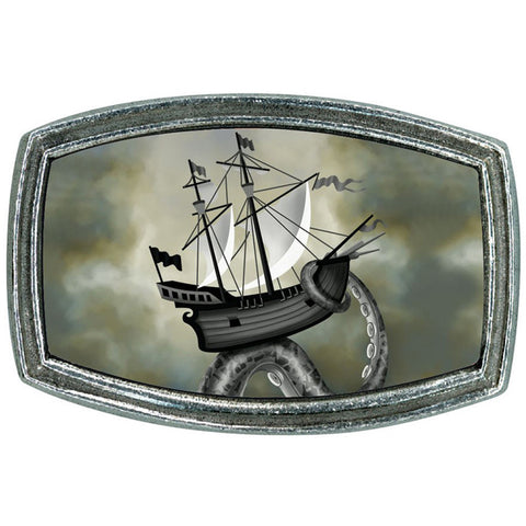 Classic Hardware Ship Belt Buckle Nautical Kraken Sea Monster