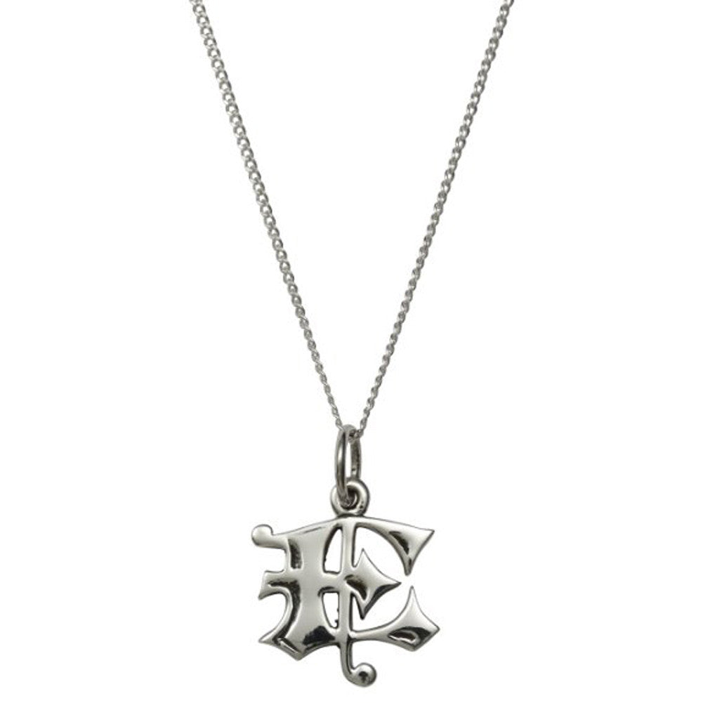 femme metale 925 sterling silver love letter e charm necklace