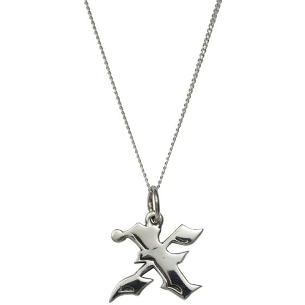 femme metale 925 sterling silver love letter x charm necklace