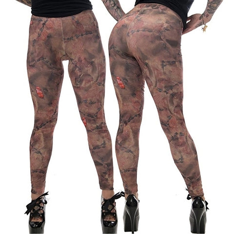 Women's Kreepsville 666 Stitched Skin Leggings Horror Gore Halloween