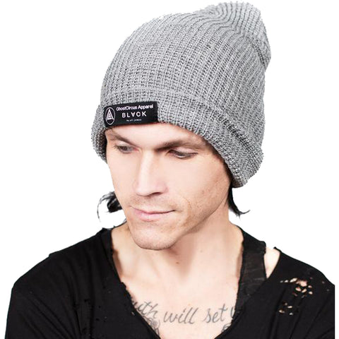 GhostCircus Apparel Knave Of Hearts Beanie Light Grey