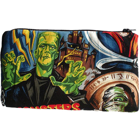Hemet Horror Movie Hollywood Monsters Wallet Frankenstein Dracula Psychobilly