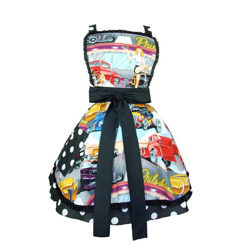 Hemet Retro Hot Rods and Waitresses 50s Diner Apron Pinups Classic Rockabilly