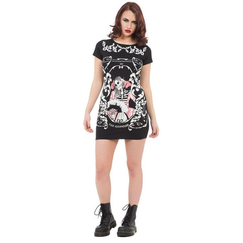 Jawbreaker Empress Tarot Body Con Dress Black Goth Punk Skull Skeleton