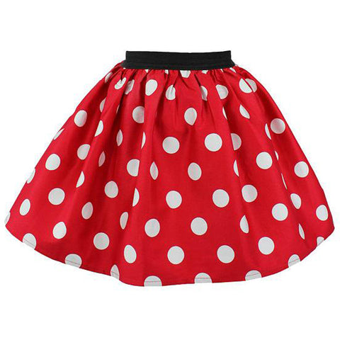 Kid's Hemet Minnie Mouse Skirt Polka Dot
