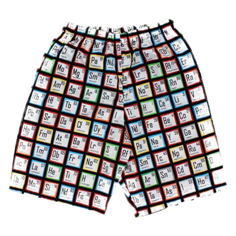Kid's Hemet Scientific Elements Shorts Black Periodic Table