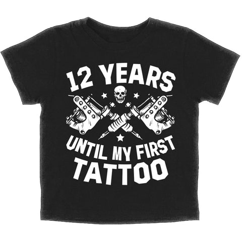 Kid's Skygraphx 12 Years Until My First Tattoo T-Shirt