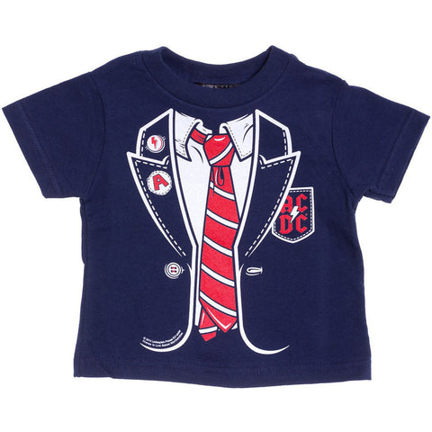 Kids Sourpuss AC/DC Angus T-Shirt Rock N Roll Metal Suit Tie Baby Toddler