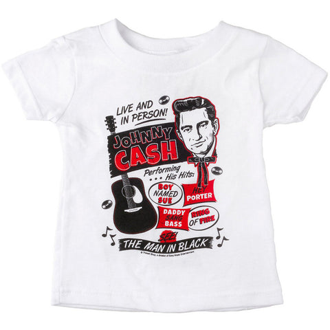 Kid's Sourpuss Johnny Cash Flyer T-Shirt Rockabilly Retro Guitar Music
