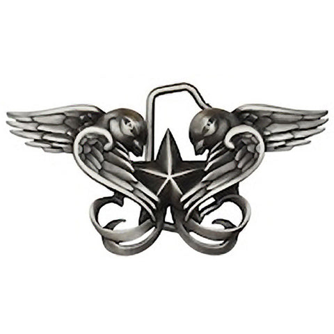 Kitsch N Kouture Swallows Belt Buckle Nautical Star Tattoo