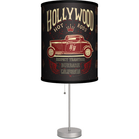 Lamp-In-A-Box Hollywood Hot Rods Burbank Table Lamp Classic Car Kustom Kulture