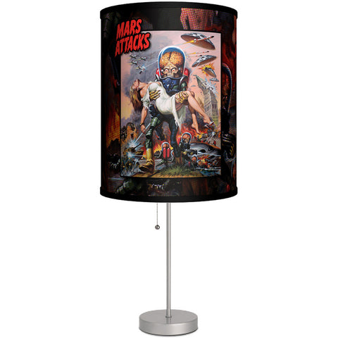 Lamp-In-A-Box Mars Attacks 90s Cover Art Table Lamp Sci-Fi Movie Aliens