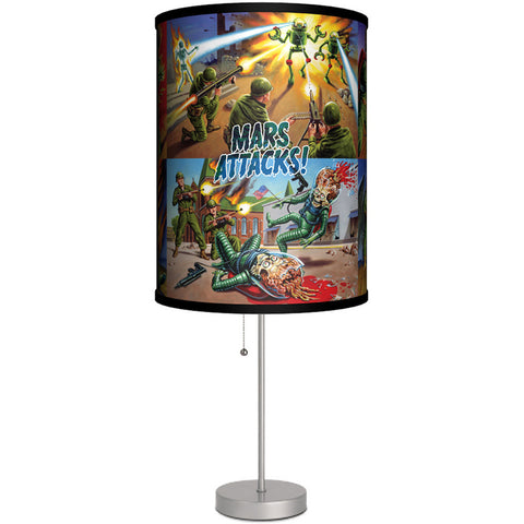 Lamp-In-A-Box Mars Attacks Humans Fight Back Table Lamp