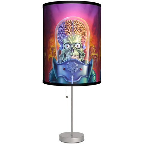 Lamp-In-A-Box Mars Attacks Martian Face Bold Color Table Lamp