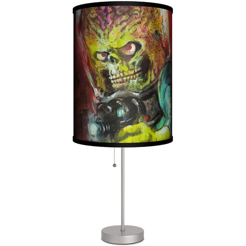 Lamp-In-A-Box Mars Attacks Painted Cover Art Table Lamp
