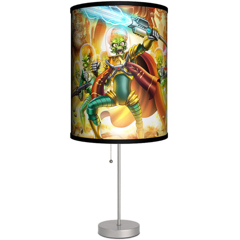 Lamp-In-A-Box Mars Attacks Poster Art Table Lamp