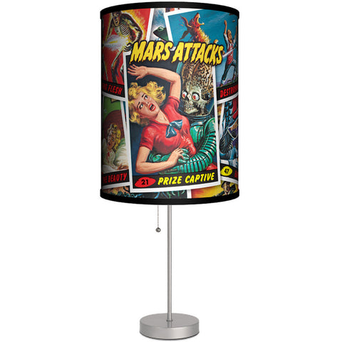 Lamp-In-A-Box Mars Attacks Prized Cards Table Lamp