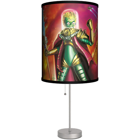 Lamp-In-A-Box Mars Attacks Tor Cover Art Table Lamp