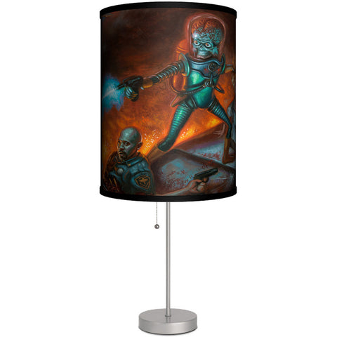 Lamp-In-A-Box Mars Attacks Wilkerson Cover Art Table Lamp