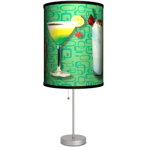 Lamp-In-A-Box Martinis Table Lamp Retro Vintage Alcohol Drinks