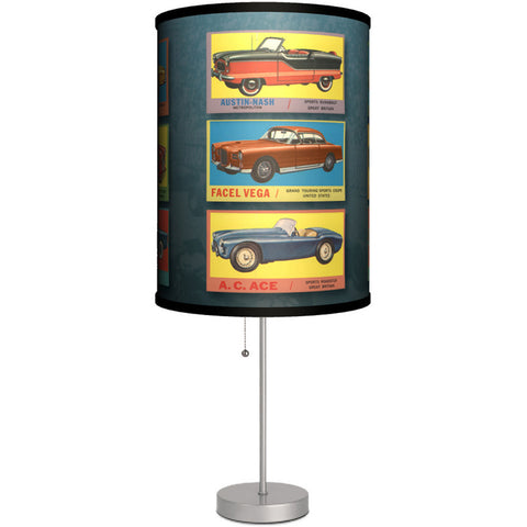 Lamp-In-A-Box Vintage Cars Table Lamp