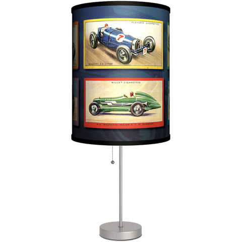 Lamp-In-A-Box Vintage Race Cars Table Lamp